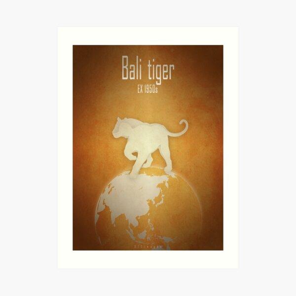 Bali tiger - extinct animals Art Print
