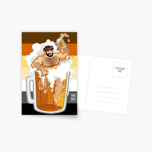 ADAM LIKES A BIG BEER Postcard