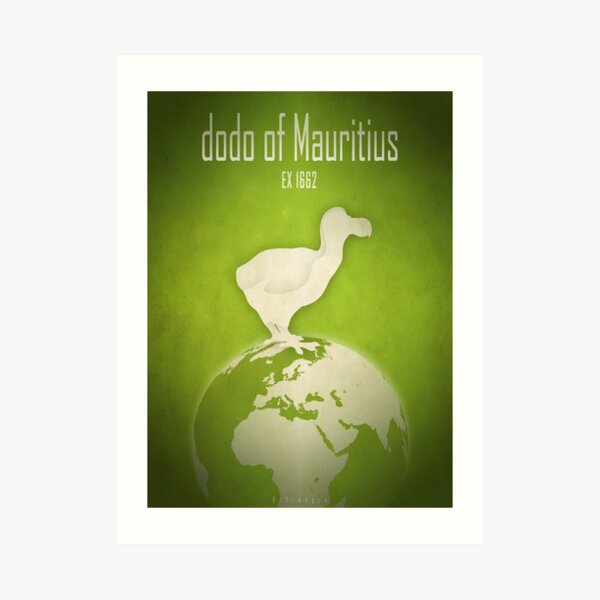 Dodo of Mauritius - extinct animals Art Print