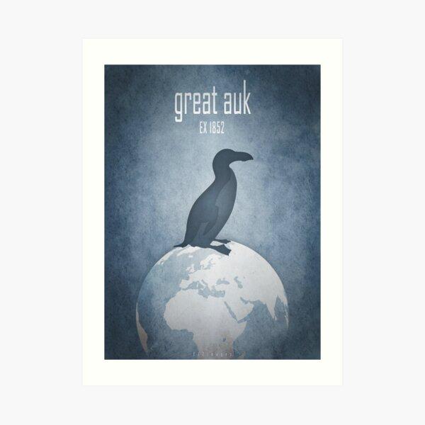 Great auk - extinct animals Art Print
