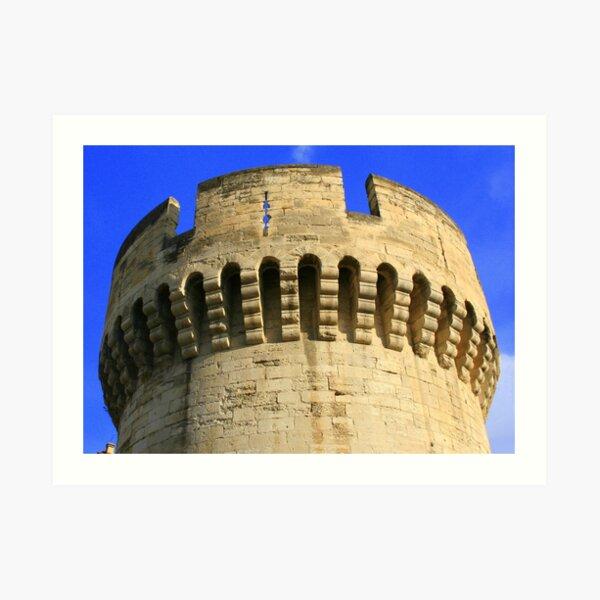 Closeup of the Wall around Old Avignon * Art Print