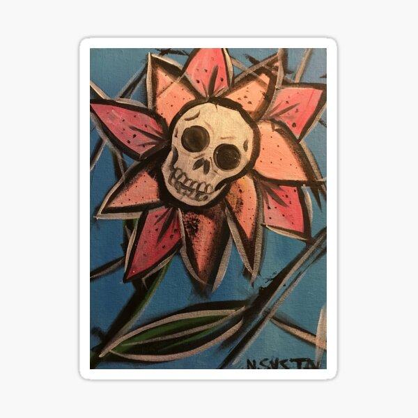 Flower skull Sticker