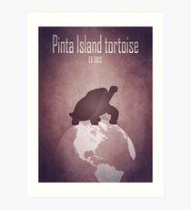 Pinta Island tortoise/Giant turtle - extinct animals Art Print