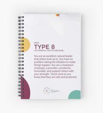 Cuaderno de espiral Eneagrama tipo 8 - Agradecido por ti