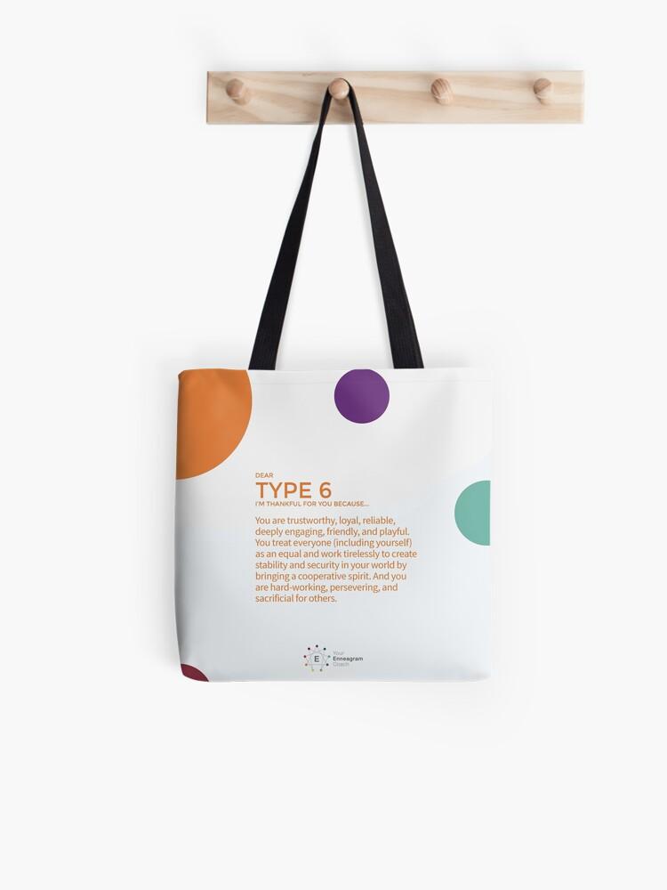 Loyal Enneagram Type six 6 Eco Tote Bag