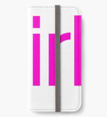 Team Girl Gender Reveal Announcement Party iPhone Wallet/Case/Skin