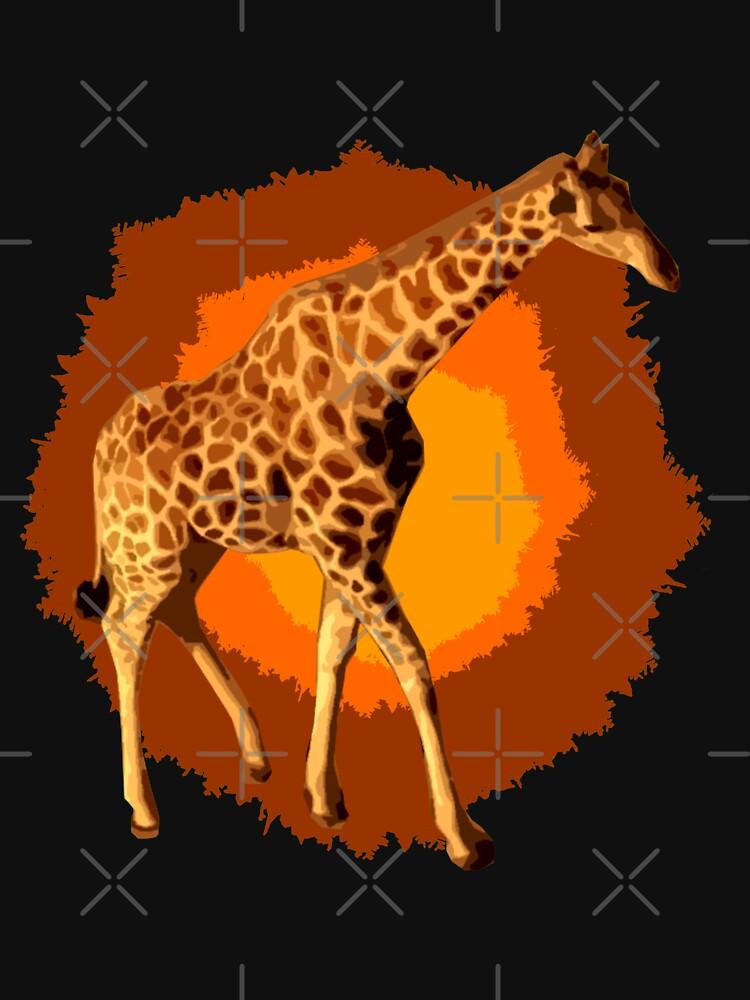 Giraffe Popart von Periartwork