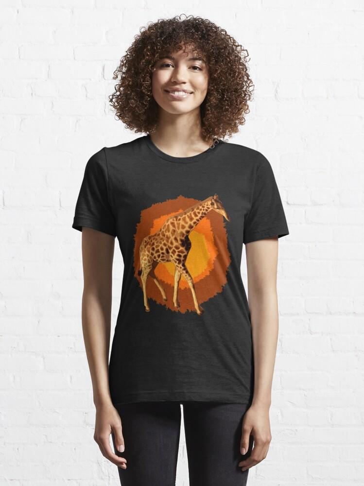 Alternative Ansicht von Giraffe Popart Essential T-Shirt