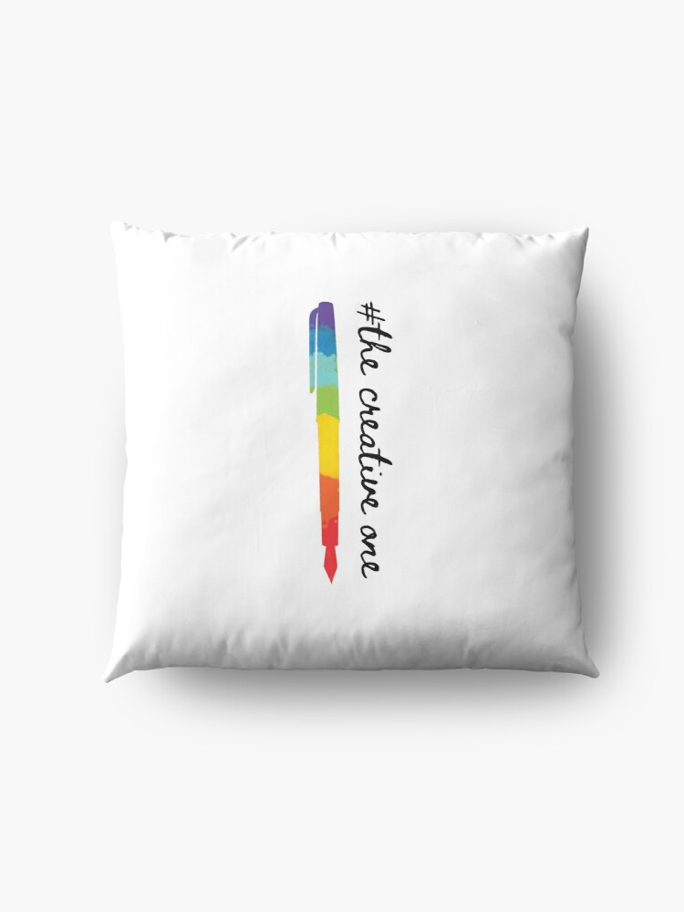Alternate view of #The Creative One Floor Pillow