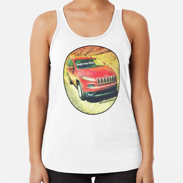 Thoughts From The Car Cover Image Racerback Tank Top