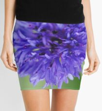 Cornflower Blue Bachelor Button Flower Mini Skirt