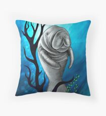 Precious Manatee Throw Pillow