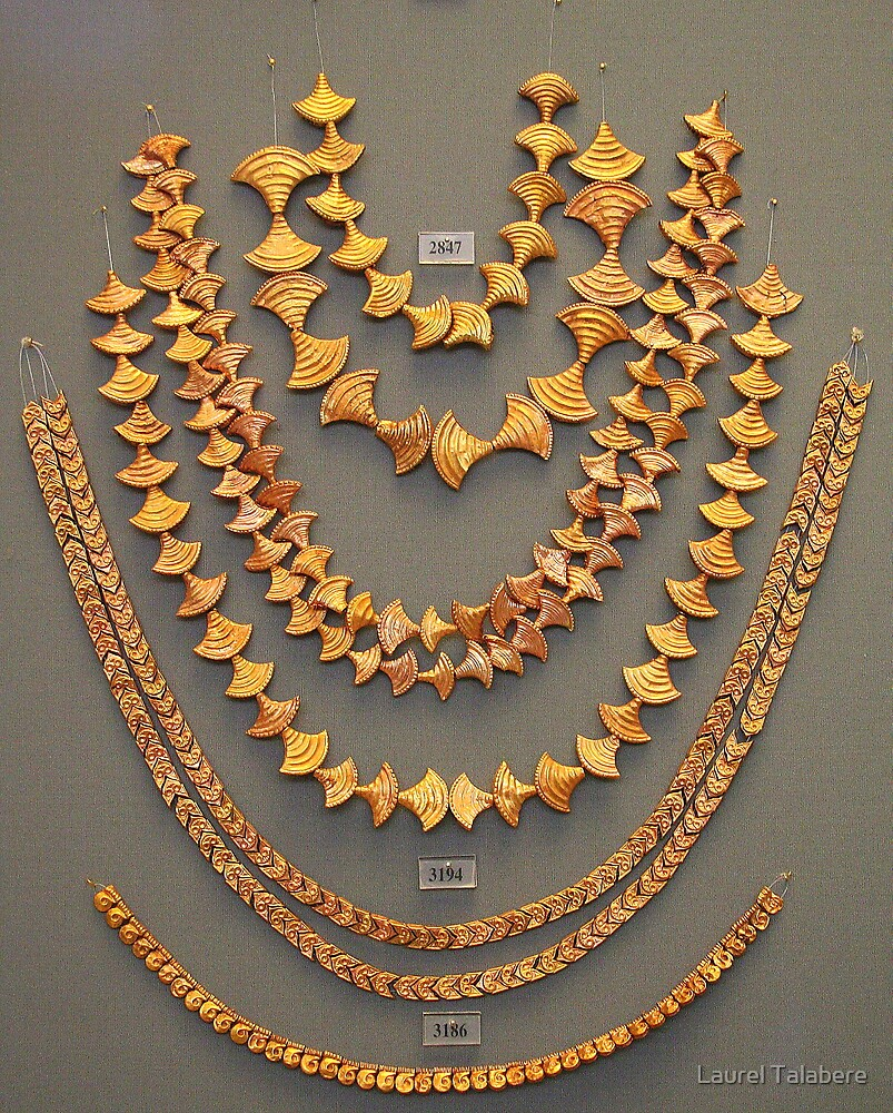 Gold Jewelry from Mycenae Chamber Tomb by Laurel Talabere
