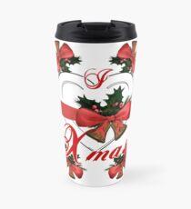 i love xmas christmas bells arrangement with red ribbon Travel Mug