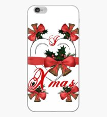 i love xmas christmas bells arrangement with red ribbon iPhone Case