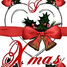 i love xmas christmas bells arrangement with red ribbon by cglightNing