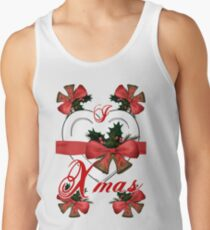 i love xmas christmas bells arrangement with red ribbon Tank Top