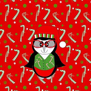A Cool Penguin Christmas - Merry Christmas by kathlesa