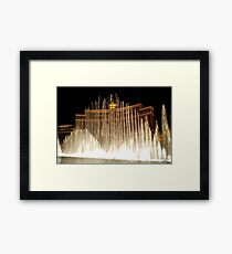 Bellagio Fountains - Las Vegas Framed Print
