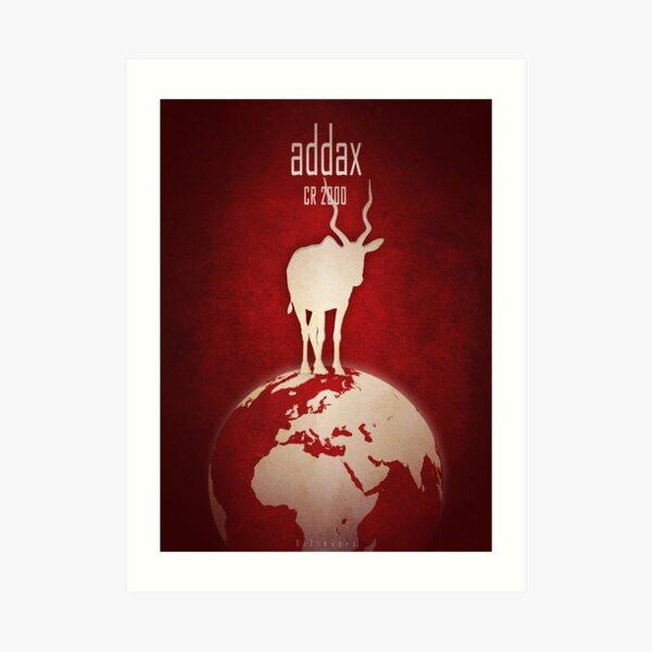 Addax/white antelope - endangered species Art Print