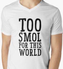 Too Smol for this world  Men's V-Neck T-Shirt