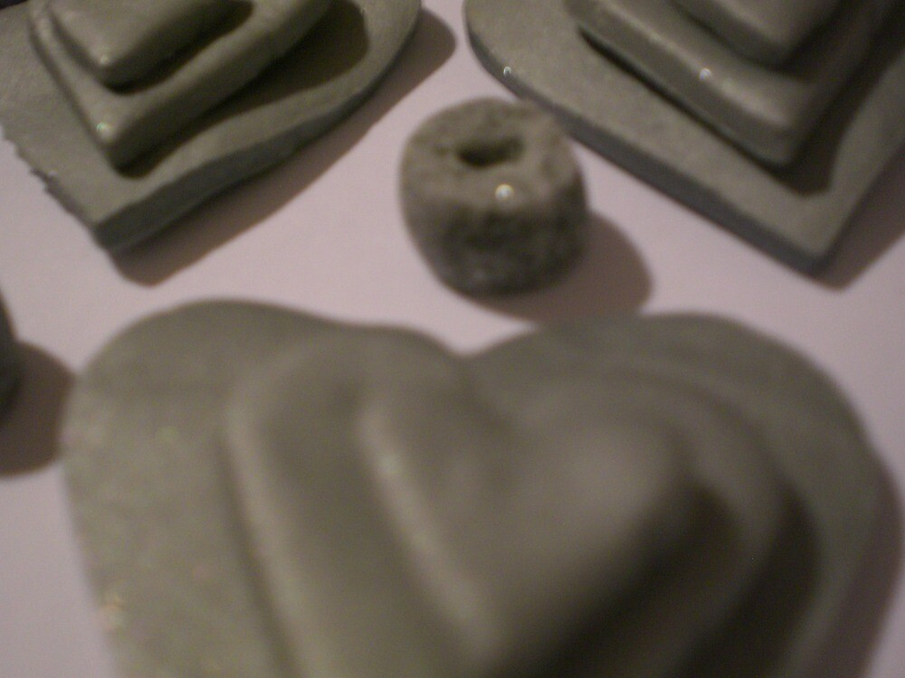 Silver grey love hearts  by Jadavision