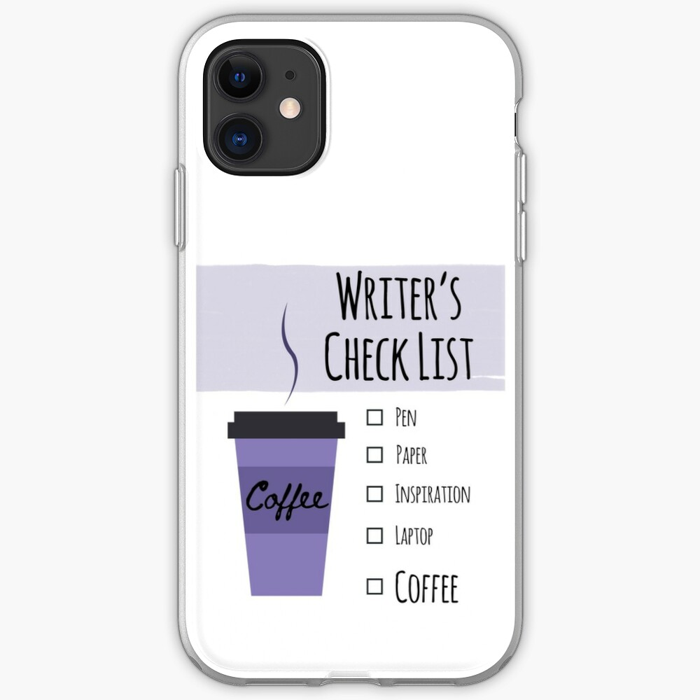 Writer's Check List iPhone Case & Cover