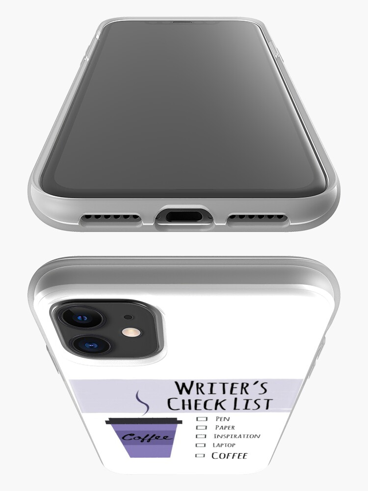 Alternate view of Writer's Check List iPhone Case & Cover