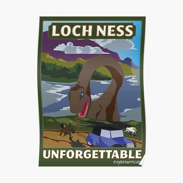 Visit Loch Ness - Green Poster