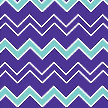 Purple Pattern with Teal and White Geometric Shapes by PerfectDisguise
