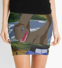 Visit Loch Ness - Orange Mini Skirt