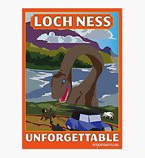 Visit Loch Ness - Orange Photographic Print