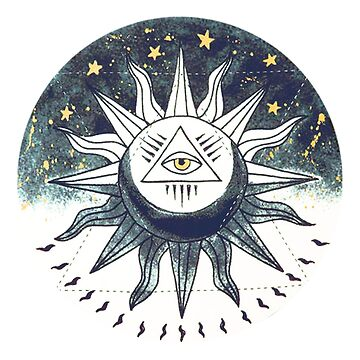 La Lune Le Soleil Sticker by nekhebit