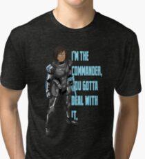 Commander Korra Tri-blend T-Shirt