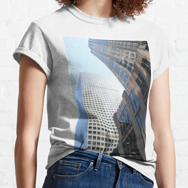 #modern #office #architecture #window #business #city #skyscraper #futuristic #reflection #sky #finance #vertical # #colorimage #wide #builtstructure #glassmaterial #constructionindustry  Classic T-Shirt