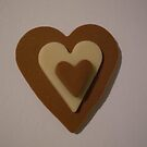 Chocolate Brown and Cream Love Heart by Jadavision