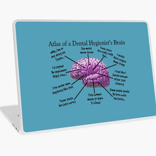 Cerebro divertido higienista Vinilo para portátil
