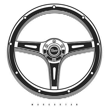 Vintage Racing steering wheel by OlegMarkaryan