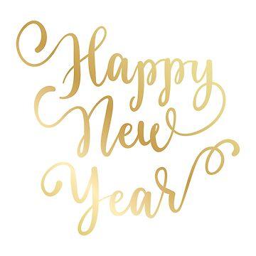 Pegatina de feliz año nuevo de natakuprova