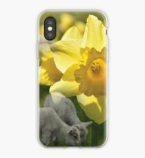 Spring! Lambs and Daffs iPhone Case