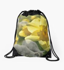 Spring! Lambs and Daffs Drawstring Bag