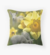 Spring! Lambs and Daffs Floor Pillow