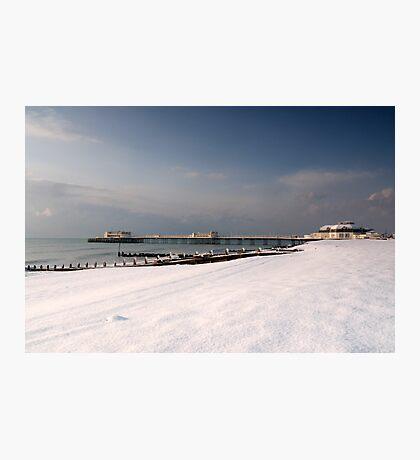 Snow beach Photographic Print