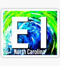 Emerald Isle NC Big Wave  Sticker