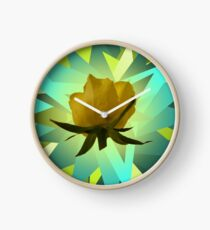 Glowing Rose Graphic Clock