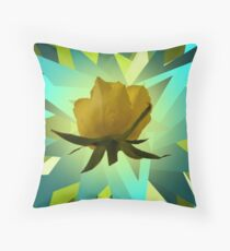 Glowing Rose Graphic Floor Pillow