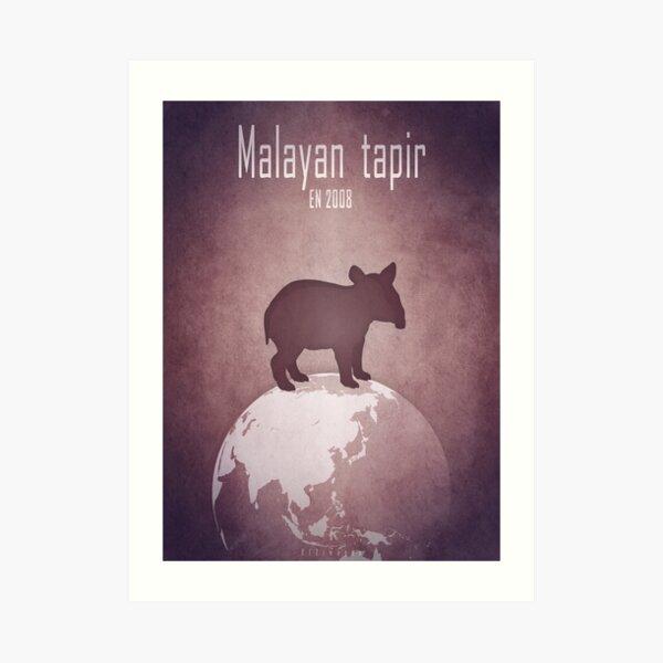 Malayan tapir - endangered animals Art Print