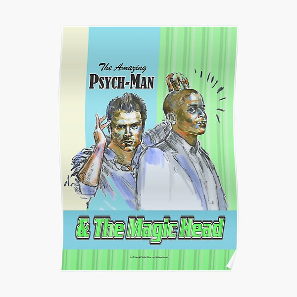 Psych - The Amazing Psych-man & MagicHead Poster