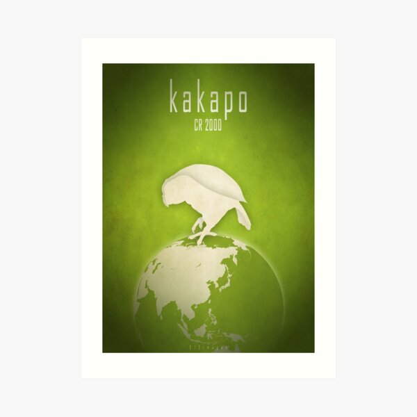 Kakapo - endangered species Art Print