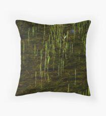 Grass in Water Throw Pillow